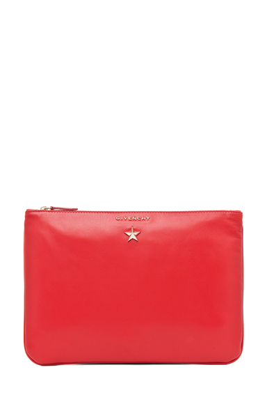 GIVENCHY | Medium Star Pouch in Red