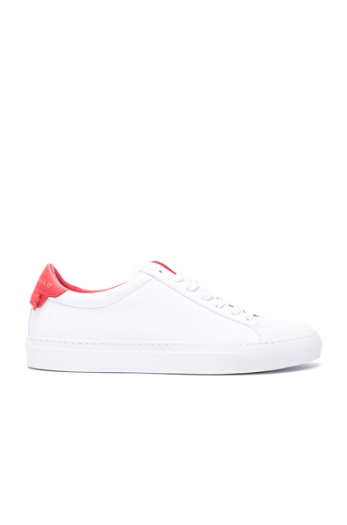 Givenchy Knots Leather Low Sneakers in White