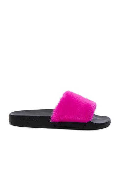 Givenchy Mink Fur Slides in Pink