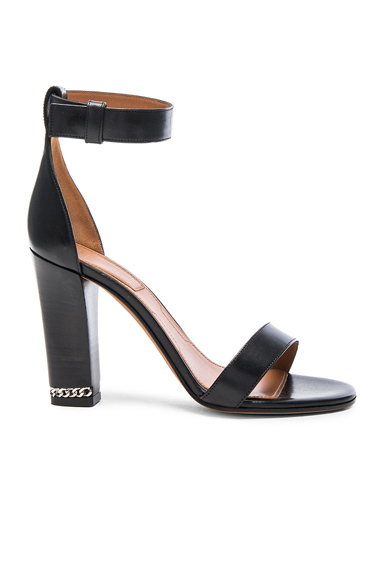 Givenchy Double Chain Leather Heels in Black