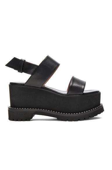Givenchy Leather Ursa Flatform Sandals in Black