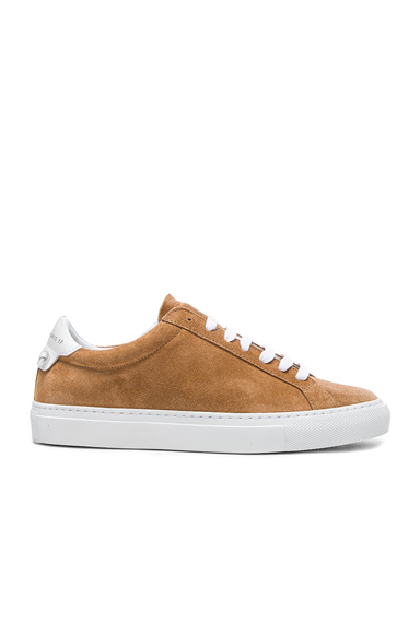 Givenchy Suede Knots Low Sneakers in Neutrals, Brown