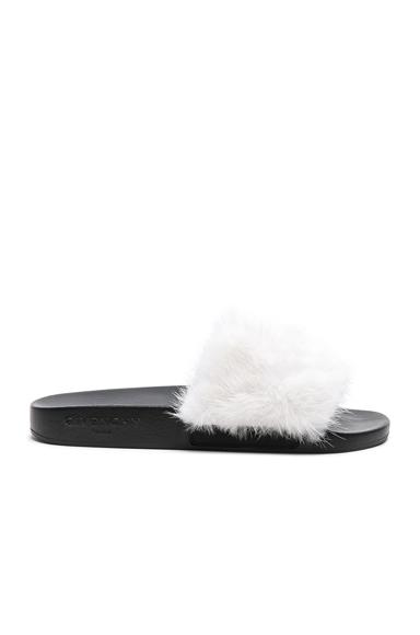 Givenchy Mink Fur Slides in White