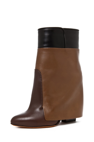 GIVENCHY | Podium Bootie in Dark Brown