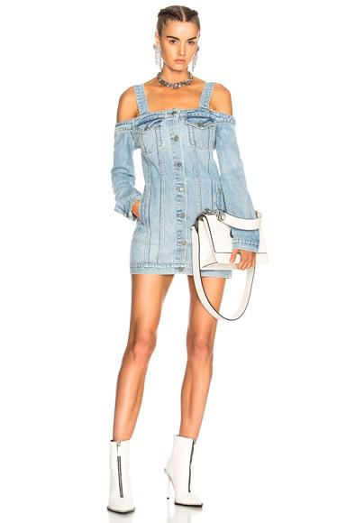 GRLFRND for FWRD Click Dress in Denim Light