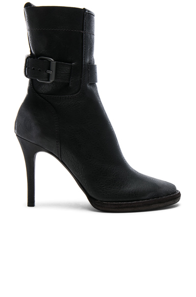Haider Ackermann Buckle Leather High Heel Boots in Black