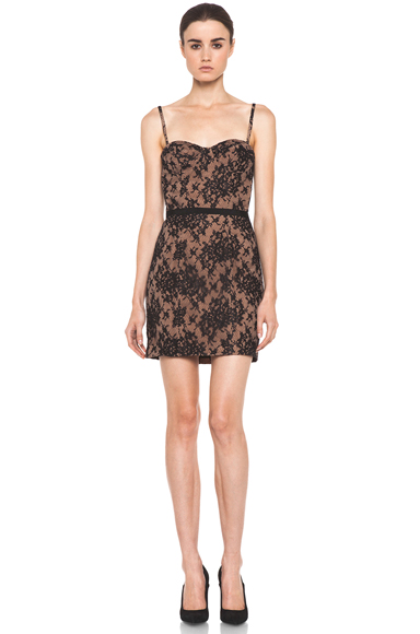 HAUTE HIPPIE | Lace Corset Dress in Black