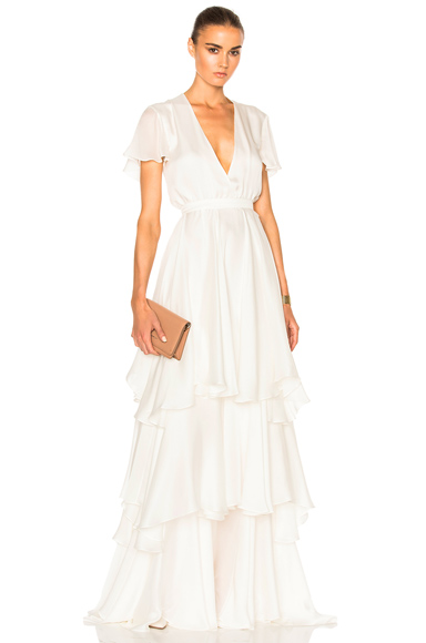 Houghton Marina Gown in White
