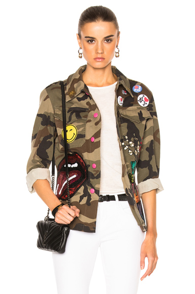 HISTORY REPEATS Giacca Donna History Jacket in Abstract, Brown, Green