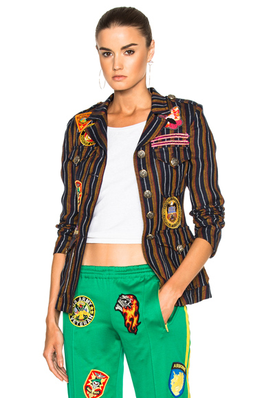 HISTORY REPEATS Giacca Donna History Jacket in Blue, Stripes, Yellow