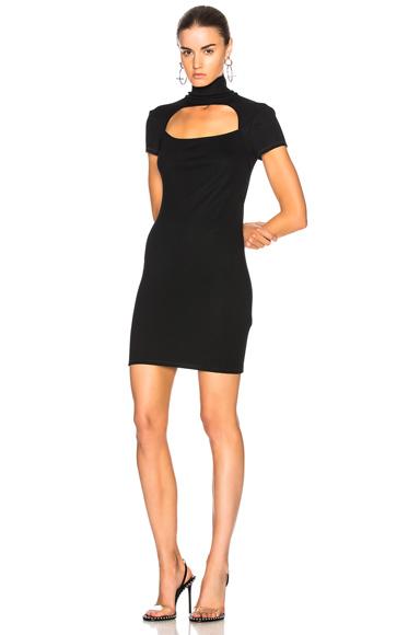 Helmut Lang Cutout Wool Dress in Black