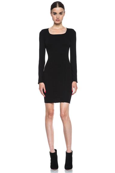 HELMUT LANG | HELMUT Gala Knit Dress in Black