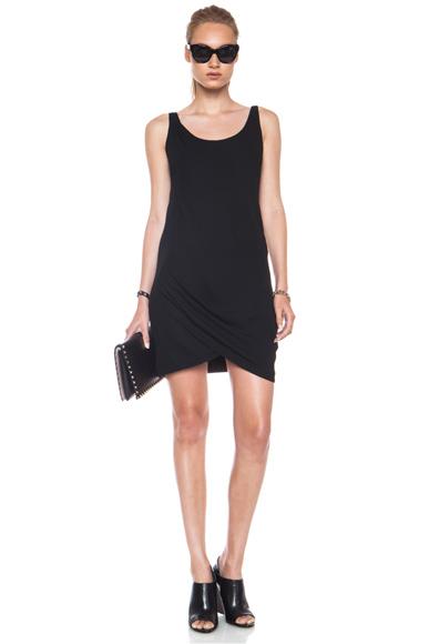 HELMUT LANG | Relic Twist Viscose-Blend Dress in Black
