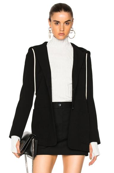 Helmut Lang Hooded Blazer Jacket in Black