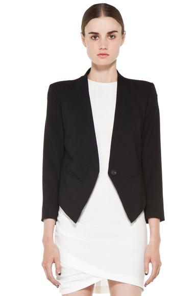 HELMUT LANG | Smoking Wool Tux Blazer in Black