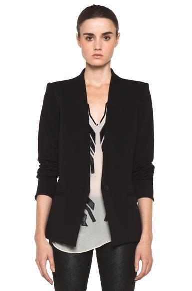 HELMUT LANG | HELMUT Gala Knit Blazer in Black