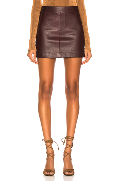HELMUT LANG | Helmut Lang Stretch Leather Mini Skirt In Purple. - Size 6 (Also In ) | Goxip
