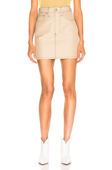 HELMUT LANG | Helmut Lang Femme Mini Skirt In Grey. - Size 30 (Also In 24,25,27,28,29) | Goxip