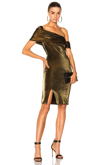 HANEY Emily Dress in Metallics