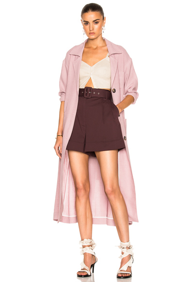 Isa Arfen Safari Coat in Pink, Purple