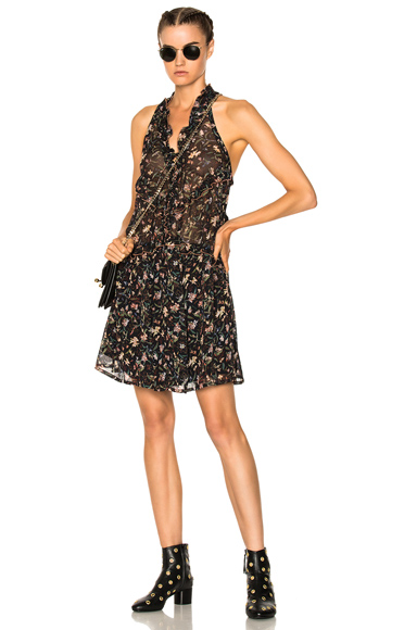 IRO Baden Dress in Black, Floral