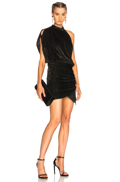 IRO Clem Dress in Abstract, Black, Metallics