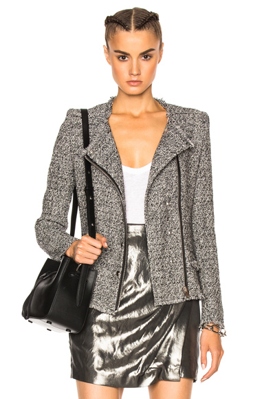 IRO Carlota Jacket in Black, Gray