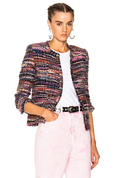 IRO Namanta Jacket in Pink, Purple, Brown