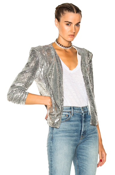 IRO Waklyn Sequin Jacket in Metallics