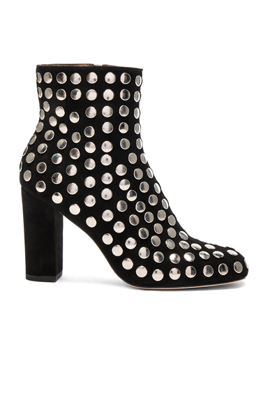 IRO Embellished Suede Bootroky Boots in Black