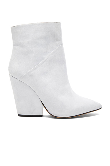 Photo of IRO Suede Lasdia Boots in White online womens shoes sales