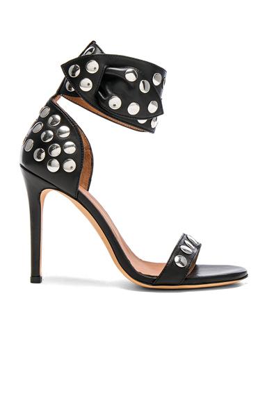 IRO Sandarok Leather Heels in Black