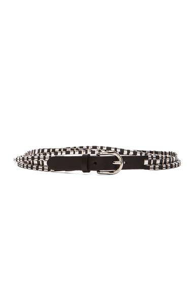 ISABEL MARANT | Cruz Woven Belt in Black & Silver