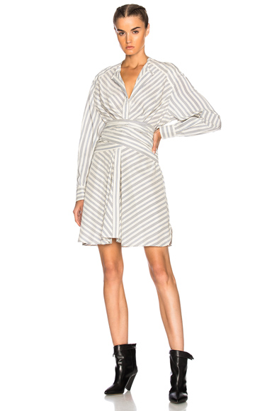 Isabel Marant Victoria Dress in Blue, Stripes, White