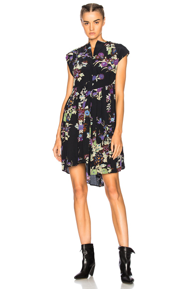 Isabel Marant Imperia Dress in Black, Floral
