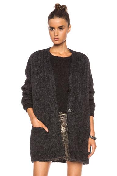 ISABEL MARANT | Tagus Lightning Knit Polyamide-Blend Cardigan in Faded Black