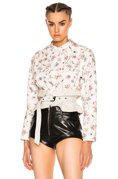 Isabel Marant Teo Jacket in Floral, White