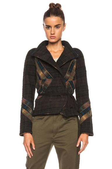 ISABEL MARANT | Greta Show Check Linen-Blend Jacket in Petrol