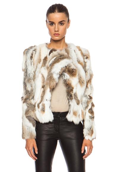 ISABEL MARANT | Anise Steppe Fur Jacket in Beige
