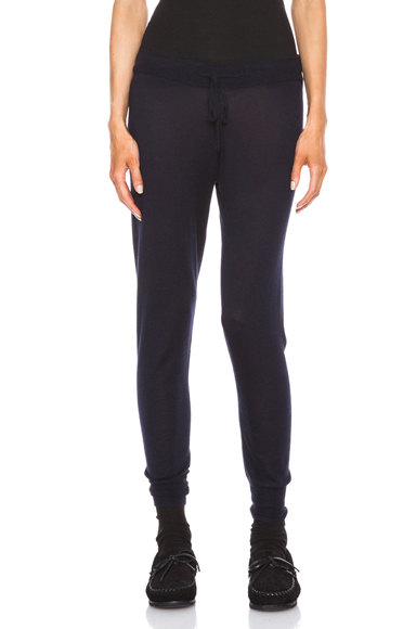 ISABEL MARANT | Tyron Cashmere-Blend Sweatpant in Midnight
