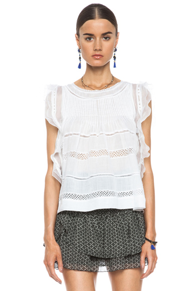 Isabel Marant|Ojima Ramie Top in White [1]