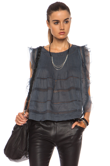 Isabel Marant|Ojima Ramie Top in Slate Blue [1]