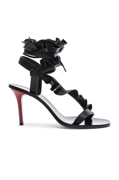Isabel Marant Leather Ansel Heels in Black