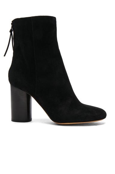Isabel Marant Garett Velvet Boots in Black