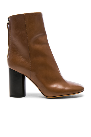 Isabel Marant Leather Garett Boots in Brown