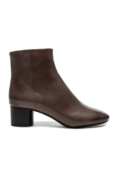 Isabel Marant Leather Danay Boots in Gray