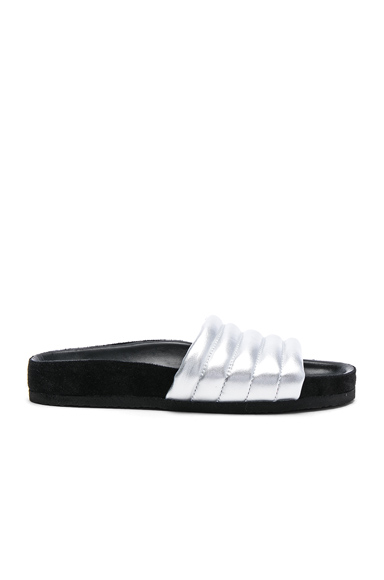 Isabel Marant Padded Leather Hellea Sandals in Metallics