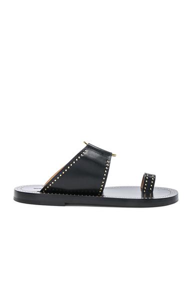 Isabel Marant Leather Jeppy Studded Sandals in Black