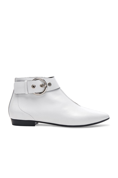 Isabel Marant Leather Rilows Ankle Boots in White