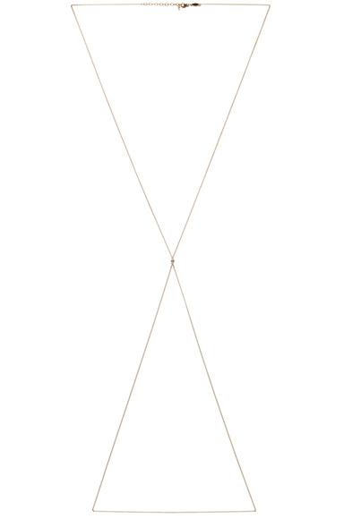 JACQUIE AICHE | 1 Diamond Body Chain in Yellow Gold